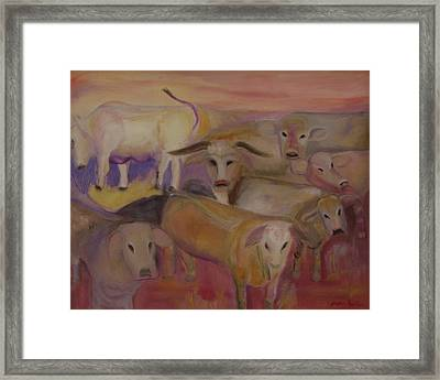 Udderly Different Framed Print by Susan Hanlon