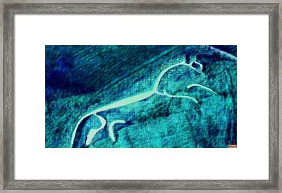 Uffington Horse Framed Print by Paula Greenlee