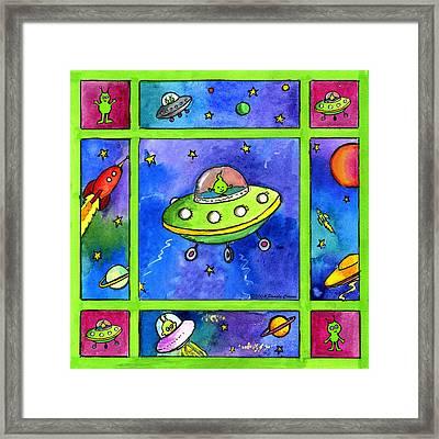 UFO Framed Print by Pamela  Corwin