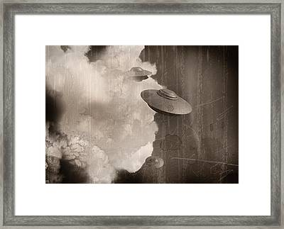 Ufos, Artwork Framed Print by Victor Habbick Visions
