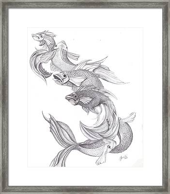Ugly Fish Framed Print by Lorelei  Marie