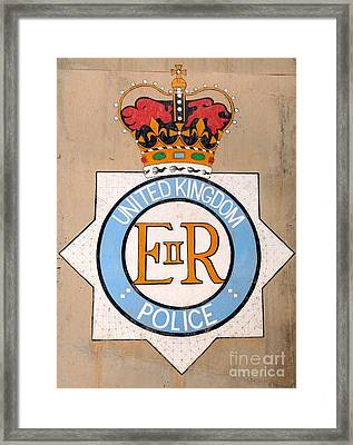 Uk Police Crest Framed Print by Unknown