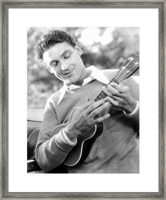 Ukelele Player, C1927 Framed Print by Granger