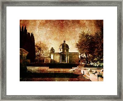 Ulalume In Lonesome October Framed Print by Laura Iverson