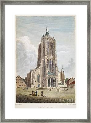 Ulm Cathedral, 19th C Framed Print by Granger