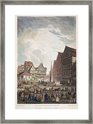 Ulm Marketplace, 1821 Framed Print by Granger