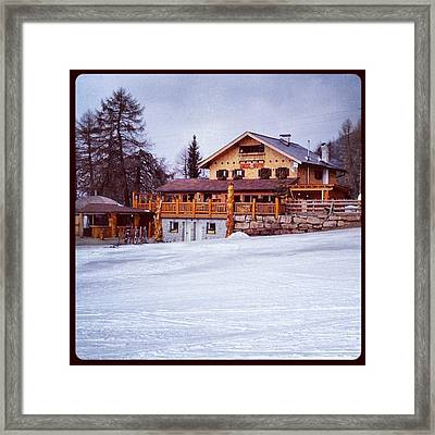 Ultima Neve Prima Del Disgelo Framed Print