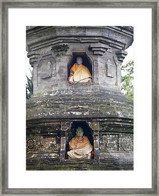 Ulun Danu Temple Statues Framed Print by Design Pics