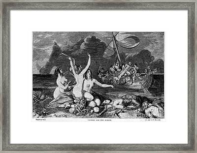 Ulysses And The Sirens Framed Print by Granger