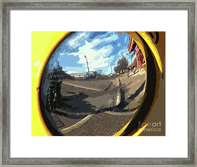 Um Die Ecke Framed Print by Joe Jake Pratt