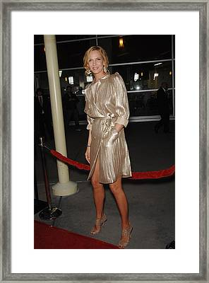 Uma Thurman At Arrivals For Ceremony Framed Print by Everett