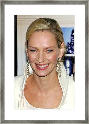 Uma Thurman At Arrivals For The Framed Print