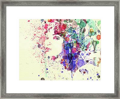 Uma Thurman Framed Print by Naxart Studio
