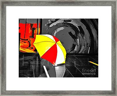 Framed Print featuring the photograph Umbrella 2 by Blair Stuart
