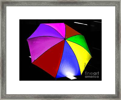 Framed Print featuring the photograph Umbrella by Blair Stuart