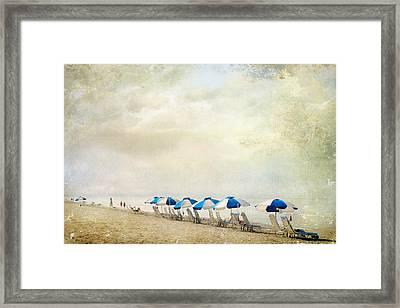Umbrellas Framed Print by Karen Lynch