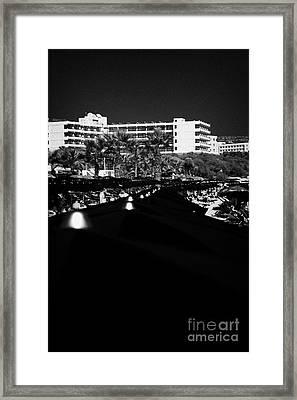 Umbrellla Sun Shades On Harbour Beach Ayia Napa Republic Of Cyprus Europe Framed Print