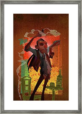 Framed Print featuring the digital art Un Hombre by Nelson Dedos Garcia