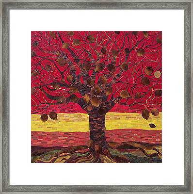 Un Rooted Autumn Framed Print by Claudia French