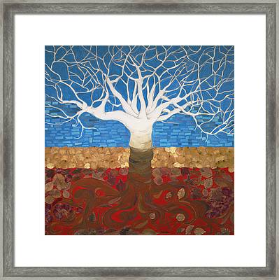 Un Rooted Leaving All Framed Print by Claudia French