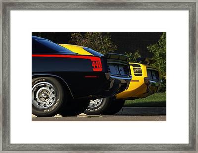 Unbeatable Dynamic Duo Framed Print by Gordon Dean II
