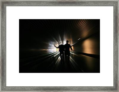 Uncle And Nephew Running Amok Framed Print by Ann WJ White