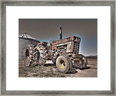 Uncle Carly's Tractor Framed Print by William Fields