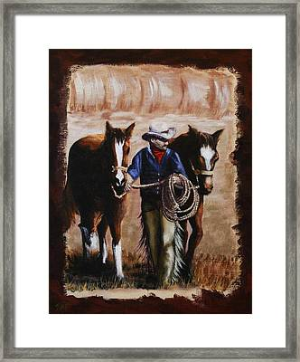 Uncle Charlie's Morning Walk Framed Print