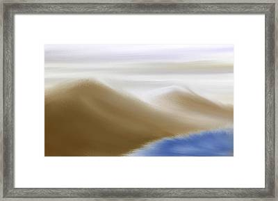 Under A Winter Sky Framed Print by Gina Lee Manley