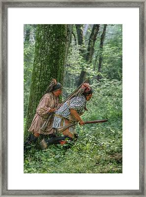 Under Fire At The Battle Of Bushy Run Framed Print
