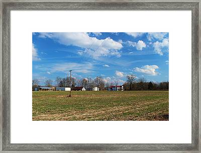Under North Carolina Blue Framed Print