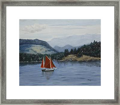 Under Sail In The San Juans Framed Print