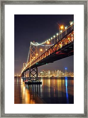Under The Bay Bridge Framed Print
