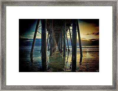 Under The Boardwalk Framed Print by Chris Lord