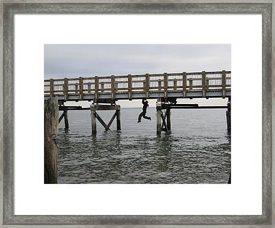 Under The Boardwalk Framed Print by Karen Molenaar Terrell