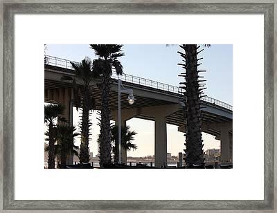 Under The Bridge Framed Print by Deborah Hughes