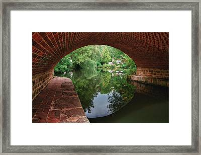 Under The Bridge Framed Print by Shirley Mitchell