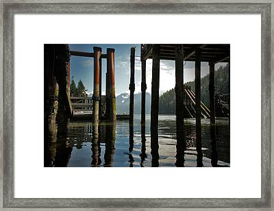 Under The Dock Framed Print by Janet Kearns