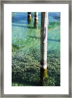 Under The Docks Framed Print