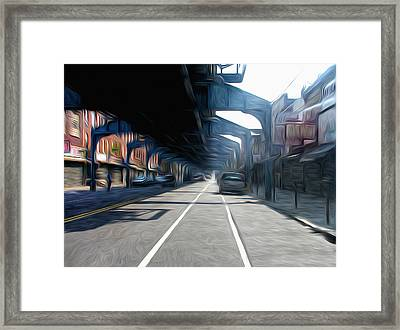 Under The El Framed Print by Bill Cannon