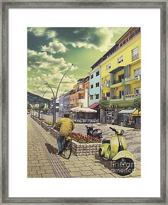 Under The Emerald Sky Framed Print by Bekim Mehovic