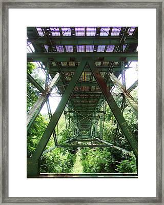 Under The Green Bridge 2 Framed Print