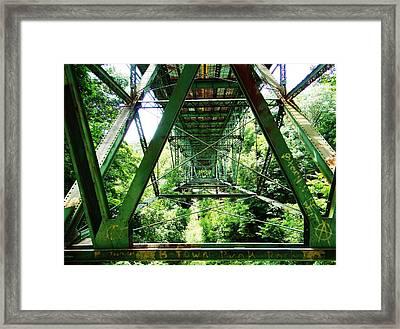 Under The Green Bridge Framed Print