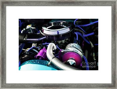 Under The Hood By House Of Kolor Framed Print by Anne Kitzman
