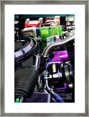 Under The Hood In Living Color Framed Print by Anne Kitzman