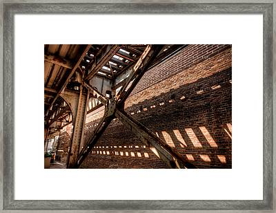 Under The L Tracks Framed Print