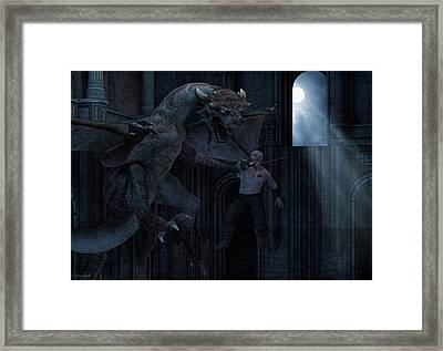 Under The Moonlight Framed Print by Lourry Legarde