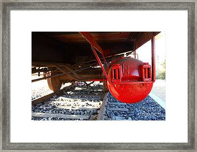 Under The Old Western Pacific Caboose Train . 7d10722 Framed Print by Wingsdomain Art and Photography
