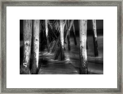 Under The Pier Framed Print by Paul Ward