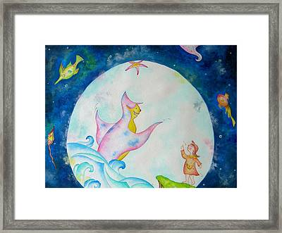 Under The Sea  Framed Print by Asida Cheng